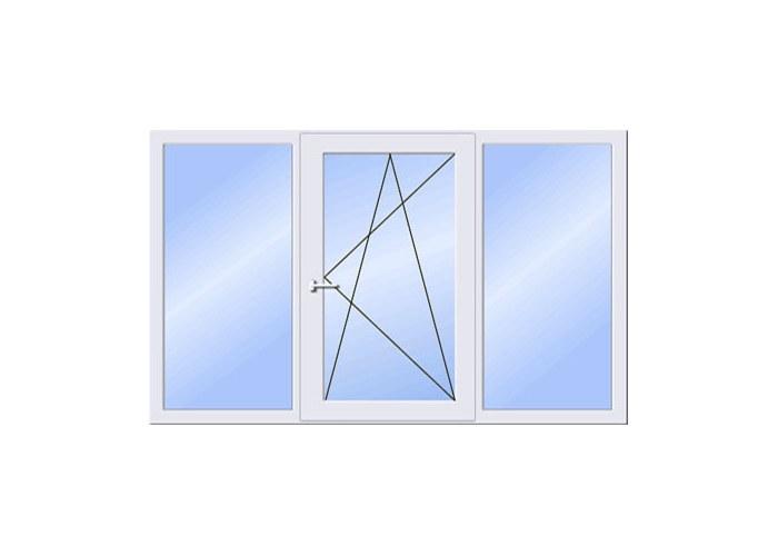 Пластиковые трехстворчатые окна. купить по цене 7600.00 в ли.